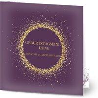 Einladungskarten Geburtstag, glänzendes feinstpapier, standard umschläge gestalten, Fotokarte (1 Foto), 30, quadratisch, klappkarte, Optimalprint