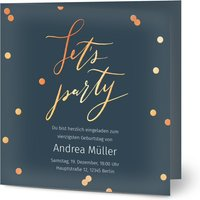 Einladungskarten Geburtstag, seidenmattes feinstpapier, standard umschläge, kupferfolie gestalten, Fotokarte, quadratisch, klappkarte, Optimalprint
