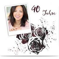 Einladungskarten Geburtstag, glänzendes feinstpapier, standard umschläge gestalten, Fotokarte (1 Foto), 40, quadratisch, flach, Optimalprint