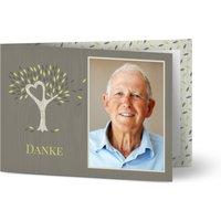 Danksagungskarten Trauer, glänzendes feinstpapier, standard umschläge gestalten, Fotokarte (1 Foto), Blätter, A6, klappkarte, Optimalprint
