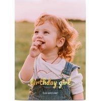Einladungskarten Geburtstag, seidenmattes feinstpapier, standard umschläge, goldfolie gestalten, Fotokarte (1 Foto), süß, A6, flach, Optimalprint