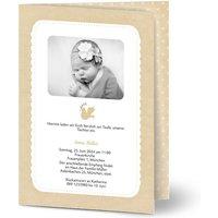 Einladungskarten Taufe, glänzendes feinstpapier, standard umschläge gestalten, Fotokarte (1 Foto), Bastelpapier, A5, klappkarte, Optimalprint