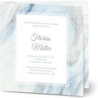 Einladungskarten Taufe, glänzendes feinstpapier, standard umschläge gestalten, Fotokarte (1 Foto), quadratisch, klappkarte, Optimalprint