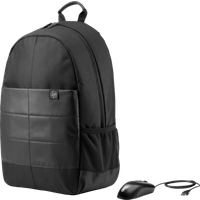 HP 15.6 Classic Backpack and Mouse|1FK04AA#ABL