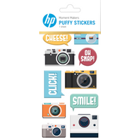 HP Moment Makers Camera Puffy Stickers, 6RW51A