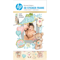 HP Moment Makers 2 x 3-in 3D Baby Easel Frame, 6ZU87A