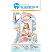 HP Moment Makers 2 x 3-in 3D Unicorn Easel Frame, 6ZU89A