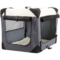 Hunde-Transportbox Journey grau-beige, Maße: ca. 91 x 63,5 x 63,5 cm
