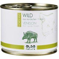alsa-nature NORDLAND Wild aus nordischen Wäldern Nassfutter, 12 x 200 g, Katzenfutter nass