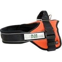 alsa-brand Nylon-Geschirr Ultimate Professional schwarz-orange, Breite: ca. 25 mm, Bauchumfang: ca. 39 - 50 cm