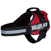Julius-K9® Hundegeschirr Power rot, Breite: 50 mm, Bauchumfang: 82-118 cm
