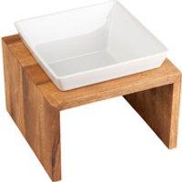 Premium-Napf Meshidai True Wood natur, Maße: ca. 18,5 x 18,5 x 10 cm, Durchmesser:  ca. 13,5 cm