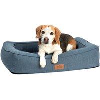 alsa-brand Hundebett Ortho Lounge grau-blau, Außenmaße: ca. 95 x 75 cm