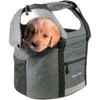KLICKfix-Fahrrad-Hundetransporttasche Doggy Tour grau-schwarz, Maße: ca. 38 cm x ca. 29 cm x ca. 25/40 cm