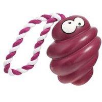 Hundewurfspielzeug Coockoo Tornado mit Seil'' rot, Maße: ca. 13 x 10,5 cm