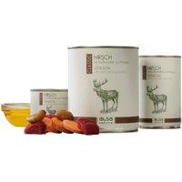 alsa-nature Hirsch mit Süßkartoffel und Maronen Nassfutter, Anzahl: 12 x 400 g, 400 g, Hundefutter nass