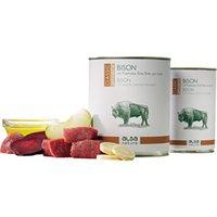 alsa-nature Bison mit Pastinake, Rote Bete & Apfel Nassfutter, Anzahl: 12 x 400 g, 400 g, Hundefutter nass