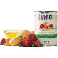alsa-nature JUNIOR Lamm mit Kartoffel, Erbsen & Möhre Nassfutter, Anzahl: 400 g, 400 g, Hundefutter nass