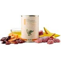 alsa-nature FINEST Puten-Muskelfleisch mit Süßkartoffel, Mango & Leinöl Nassfutter, Anzahl: 12 x 400 g, 400 g, Hundefutter nass