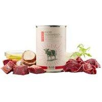 alsa-nature FINEST Rinder-Muskelfleisch mit Topinambur, Fenchel & Leinöl Nassfutter, Anzahl: 6 x 400 g, 400 g, Hundefutter nass