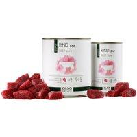 alsa-nature SIMPLE Rind pur Nassfutter, Anzahl: 6 x 400 g, 400 g, Hundefutter nass