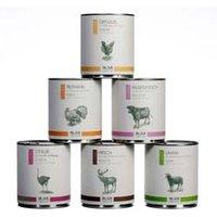 alsa-nature Classic Dosen-Menü-Mix Nassfutter, Anzahl: 12 x 800 g, 800 g, Hundefutter nass