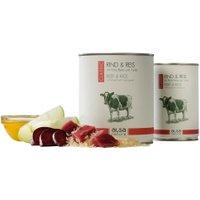 alsa-nature Rind & Reis mit Rote Bete & Apfel Nassfutter, Anzahl: 6 x 800 g, 800 g, Hundefutter nass