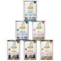 isegrim® Dosen-Menü-Mix, Anzahl: 6 x 400 g, 400 g, Hundefutter nass
