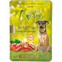 alsa natural Love Single-Protein Kalb mit Malz, Karotten und Löwenzahn, 30 x 300 g, Hundefutter