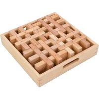 Bauspiel Gitter-Bausteine natur, 12 Stück