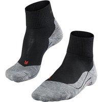 FALKE TK5 Short Men Trekking Socks, 39-41, Black, Virgin Wool