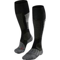 FALKE SK1 Men Skiing Knee-high Socks, 39-41, Black, Wool