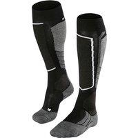 FALKE SK2 Wool Women Skiing Knee-high Socks, 41-42, Black, Virgin Wool