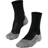 FALKE RU4 Wool Men Running Socks, 46-48, Black, Virgin Wool