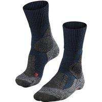FALKE TK1 Women Trekking Socks, 35-36, Blue, Wool