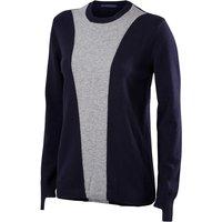 FALKE Women Golf Pullover, S, Blue, Virgin Wool