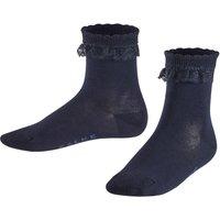 FALKE Romantic Lace Kids Socks, 35-38, Blue, Block colour, Cotton