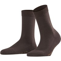 FALKE Wool Balance Women Socks, 37-38, Brown, Block colour, Virgin Wool