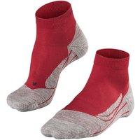 FALKE GO2 Short Women Golf Socks, 39-40, Red, Cotton