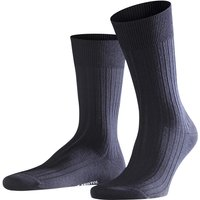 FALKE Bristol Pure Men Socks, 39-40, Blue, Block colour, Virgin Wool