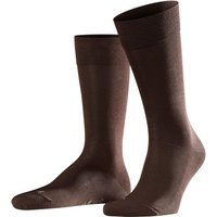 FALKE Sensitive Malaga Men Socks, 43-46, Brown, Block colour, Cotton