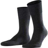 FALKE Run Socks, 46-48, Black, Block colour, Cotton
