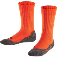 FALKE Active Warm Kids Socks, 19-22, Red, Block colour, Wool