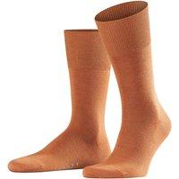 FALKE Airport Men Socks, 43-44, Orange, Block colour, Virgin Wool