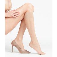 FALKE Seidenglatt 15 DEN Women Knee-high Socks, 39-42, Beige, Block colour