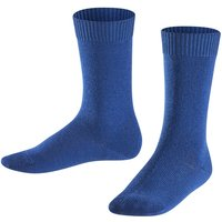 FALKE Comfort Wool Kids Socks, 31-34, Blue, Block colour, Virgin Wool
