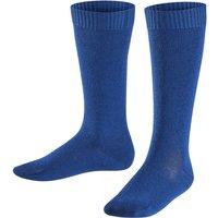 FALKE Comfort Wool Kids Knee-high Socks, 19-22, Blue, Block colour, Virgin Wool