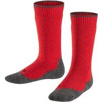 FALKE Active Warm+ Kids Knee-high Socks, 27-30, Red, Block colour, Wool