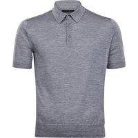 FALKE Polo-Shirt Polo, Men, 50, Grey, Block colour, Virgin Wool