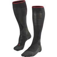 FALKE Horse Riding Women Knee-high Socks, 41-42, Black, Wool